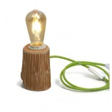 Veioza rustica din lemn LB 12 Verde